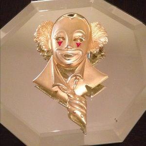 Jewelry - Vintage Circus Clown Brooch